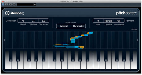 pitch correct for cubase plugin